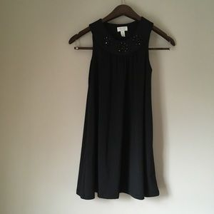 Children's Place Black Shift Dress with Jewels